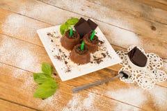 Estallidos hechos en casa del chocolate fotografía de archivo