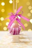 Estallidos rosados de la torta Fotografía de archivo libre de regalías