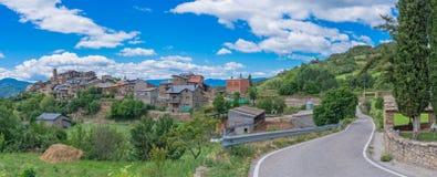 Estamariu, comarca di alt Urgell, Lleida, Catalogna, Spagna Fotografie Stock Libere da Diritti