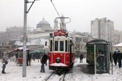 Estambul bajo nieve Fotos de archivo libres de regalías
