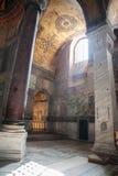 ESTAMBUL - 10 DE JULIO DE 2015: dentro de la basílica de Hagia Sophia Imágenes de archivo libres de regalías