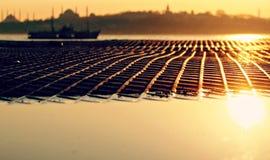 Estambul en la puesta del sol Imagen de archivo