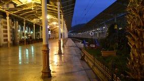 Estambul, estación, ferrocarril, pavo, tren, viaje de la estación de tren de Sirkeci un restaurante Un café almacen de video