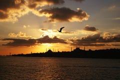 Estambul, silueta Imagenes de archivo