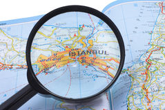 Estambul Turquía bajo la lupa Fotos de archivo