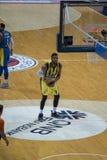 Estambul/Turquía - 20 de marzo de 2018: Jugador de básquet profesional de Jason Carlton Thompson American para Fenerbahce fotos de archivo libres de regalías