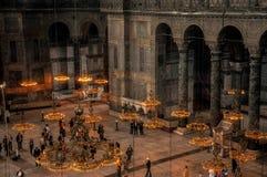 Estambul, Turquía - 18 de mayo de 2012: Dentro de la catedral de Hagia Sophia, Estambul, Turquía foto de archivo libre de regalías