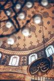 ESTAMBUL, TURQUÍA - 5 DE MAYO DE 2014: Interior adornado hermoso de foto de archivo libre de regalías
