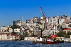 Estambul, Turquía - 23 de octubre de 2017: Estrecho de Bosphorus, Estambul, Turquía Imágenes de archivo libres de regalías
