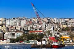 Estambul, Turquía - 23 de octubre de 2017: Estrecho de Bosphorus, Estambul, Turquía Fotos de archivo