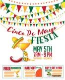 Estamenha da venda de Cinco de Mayo e molde do mercado do vale ilustração royalty free