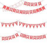 Estamenha do aniversário com letras ilustração stock
