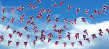 Estamenha e bandeiras de Jack de união Fotos de Stock Royalty Free