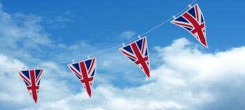 Estamenha e bandeiras de Jack de união Fotografia de Stock