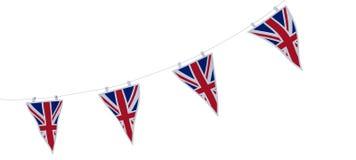 Estamenha e bandeiras de Jack de união Imagem de Stock