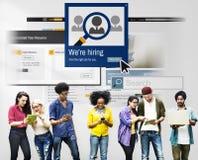 Estamos empleando la carrera que busca a Job Occupation Concept Foto de archivo