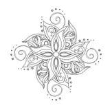 Estampado de flores abstracto Stock de ilustración