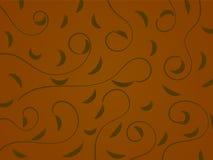 Estampado de flores abstracto en Brown Imagen de archivo libre de regalías