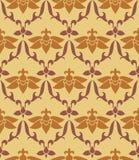 Estampado de flores amarillo y marrón inconsútil Imagen de archivo libre de regalías