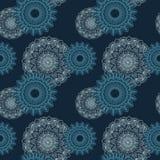 Estampado de flores azul marino inconsútil Imagen de archivo