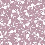 Estampado de flores blanco inconsútil en púrpura Ilustración del vector Foto de archivo libre de regalías