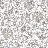 Estampado de flores blanco y negro inconsútil del vector ilustración del vector