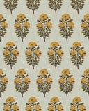 Estampado de flores de Blockprint stock de ilustración