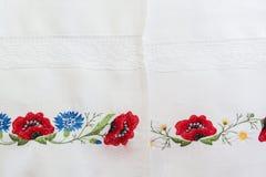 Estampado de flores bordado Imagen de archivo libre de regalías