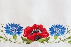 Estampado de flores bordado Imagenes de archivo