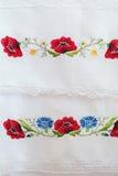 Estampado de flores bordado Fotografía de archivo