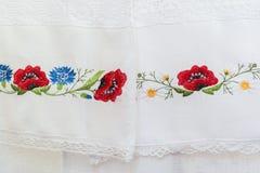 Estampado de flores bordado Fotografía de archivo libre de regalías