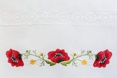 Estampado de flores bordado Fotos de archivo libres de regalías