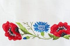 Estampado de flores bordado Foto de archivo