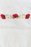 Estampado de flores bordado Imagen de archivo