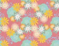 Estampado de flores bosquejado stock de ilustración