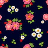 Estampado de flores brillante con adornos del bohemiam Imagenes de archivo