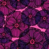 Estampado de flores con las flores de las amapolas Imagenes de archivo