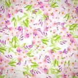 Estampado de flores con las flores rosadas Fotografía de archivo libre de regalías