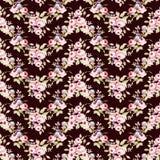 Estampado de flores con las pequeñas rosas rosadas Imagenes de archivo