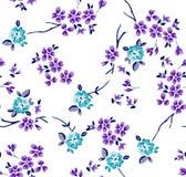 Estampado de flores con las ramas imagen de archivo