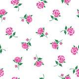 Estampado de flores con las rosas rosadas Foto de archivo