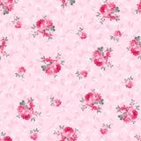 Estampado de flores con las rosas rosadas Fotografía de archivo libre de regalías