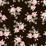 Estampado de flores con las rosas rosadas Foto de archivo libre de regalías