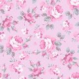 Estampado de flores con las rosas rosadas Imagen de archivo