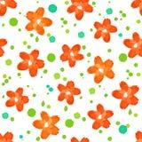Estampado de flores de la acuarela Foto de archivo libre de regalías