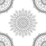 Estampado de flores de la mandala del círculo Imagenes de archivo