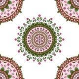 Estampado de flores de la mandala del círculo Imágenes de archivo libres de regalías