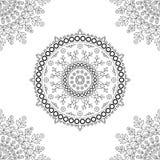 Estampado de flores de la mandala del círculo Fotos de archivo
