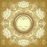 Estampado de flores de oro Imagen de archivo