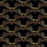 Estampado de flores de oro ilustración del vector